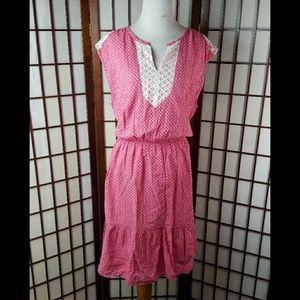 TOMMY HILFIGER Geometric Lined Blouson Dress